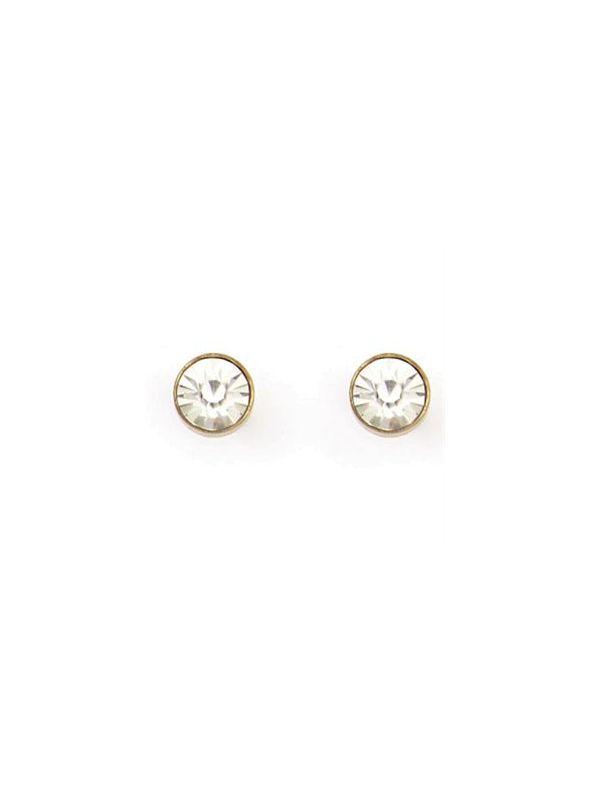 Victoria Stud Antique Brass Earrings