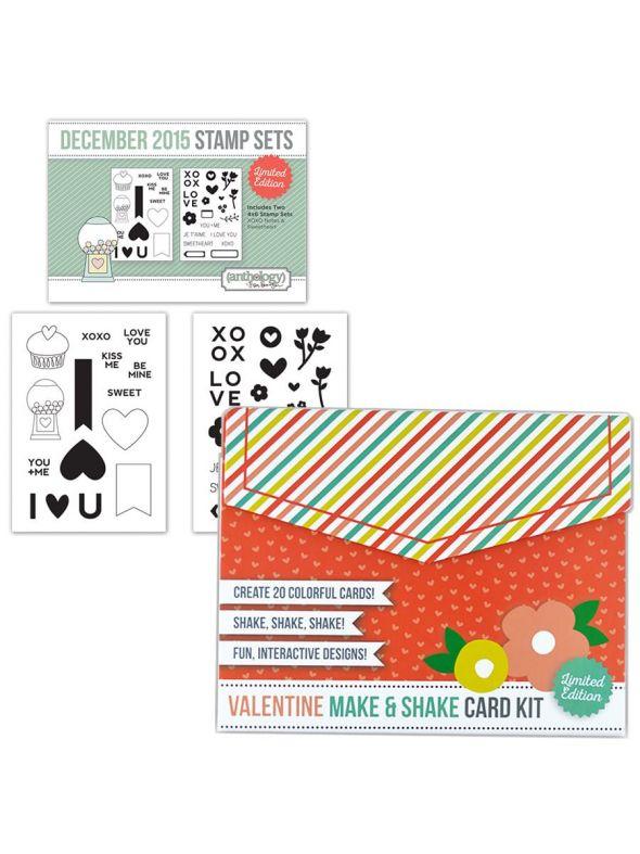 Valentine Card Kit December Stamp Bundle