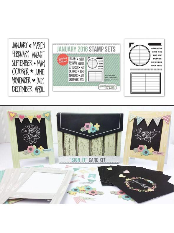 Sign It Card Kit January Stamp Bundle